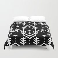 nordic Duvet Covers featuring BLACK NORDIC by Nika
