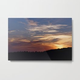 Sunset over the Hills Metal Print