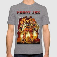 Robot Jox Tri-Grey X-LARGE Mens Fitted Tee