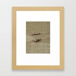 Do not row gentle Framed Art Print