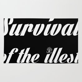 """Barbarica """"Survival of the illest"""" (black) Rug"""