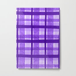 Tissue Paper Plaid - Purple Metal Print