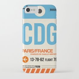 CDG Paris Luggage Tag 2 iPhone Case