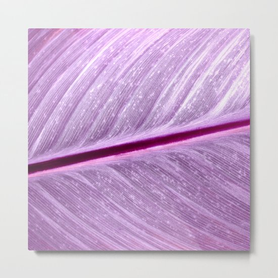purple leaf structure XIV Metal Print