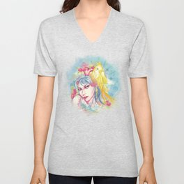 Parrot beauty going to a party Unisex V-Neck