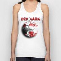 denmark Tank Tops featuring Old football (Denmark) by seb mcnulty