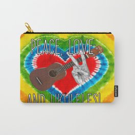 Peace Love and Ukuleles! Carry-All Pouch