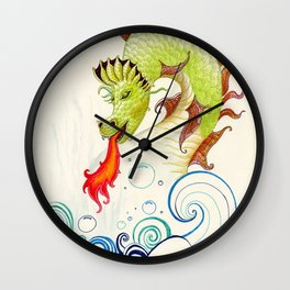 A happy dragon Wall Clock