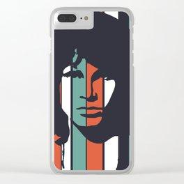 American Poet Morrison Jim Retro Homage Clear iPhone Case
