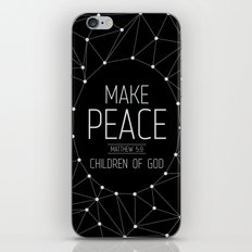 Make Peace iPhone & iPod Skin