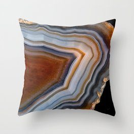 Layered agate geode 3163 Throw Pillow