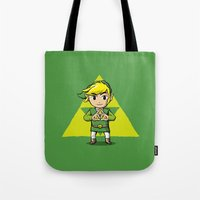 hyrule Tote Bags featuring Hyrule BFFs I by Jango Snow