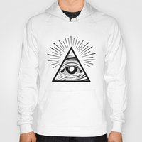 all seeing eye Hoodies featuring ILLUMINATI ALL SEEING EYE by HAUS OF DEVON