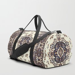 V8 Moroccan Epic Carpet Texture Design. Duffle Bag
