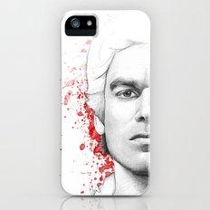 Dexter Morgan Portrait, Blood Splatters iPhone SE Slim Case