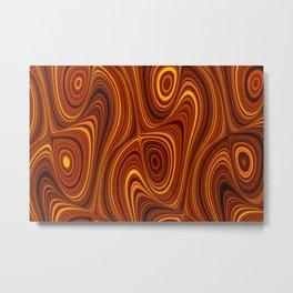 Amber Lava 10 Hi Res Metal Print