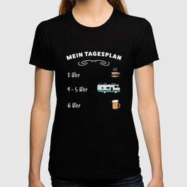 Der Tagesplan: Kaffee, Wohnmobil & Bier T-shirt