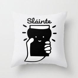 Slainte guinness Throw Pillow