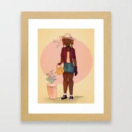 Gardener Hazel Levesque Framed Art Print