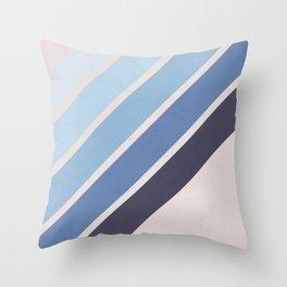 Blue Color Drift Throw Pillow