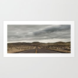 The Road to Valentine, Texas  Art Print