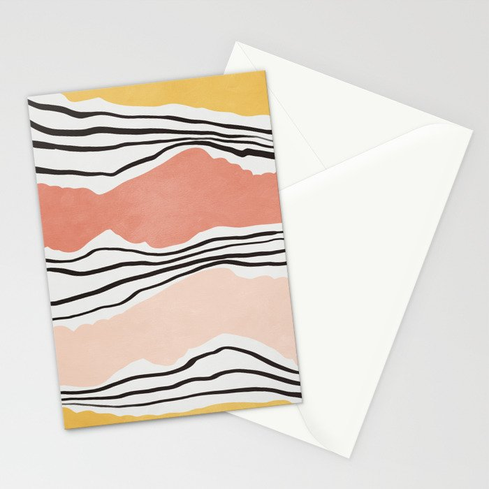 Modern irregular Stripes 01 Stationery Cards