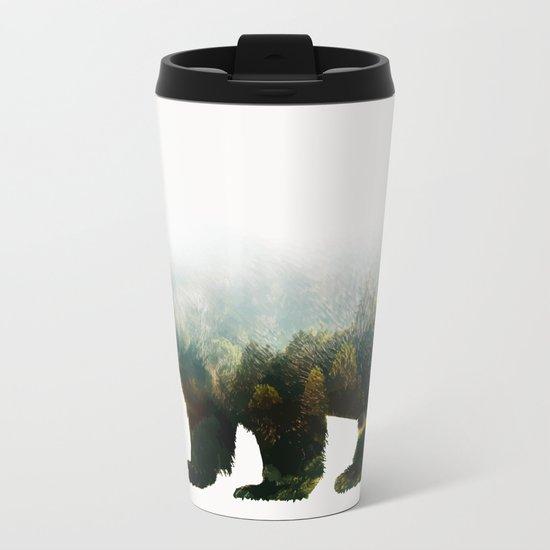Colorado Forest Bear Metal Travel Mug