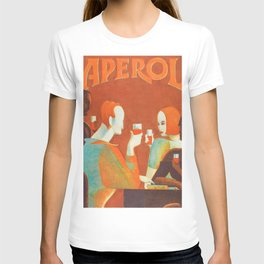 Aperol 'Salute!' Wine and Wine Alcohol Aperitif Vintage Advertisement Poster T-shirt