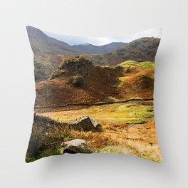 Castle Howe landscape Throw Pillow