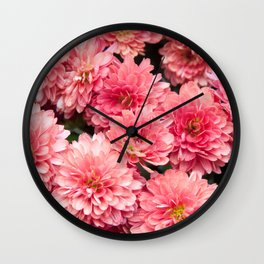 Autumn Kiss Chrysanthemums #1 #floral #art #Society6 Wall Clock
