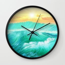 Light in a storm Wall Clock