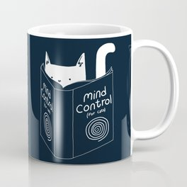 Mind Control For Cats (dark blue) Coffee Mug