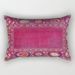 Shakhrisyabz  Antique South West Uzbekistan Suzani Embroidery Rectangular Pillow