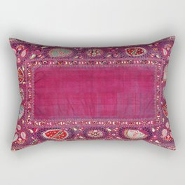 Shakhrisyabz  Southwest Uzbekistan Suzani Embroidery Print Rectangular Pillow