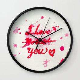 I Love Roses... I Mean, I Love You Wall Clock