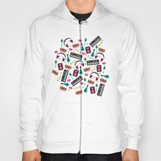 Jazz music instruments and sounds pattern Hoody