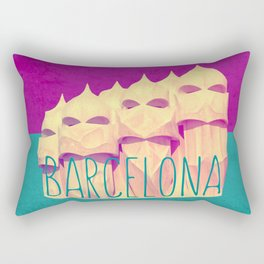 Barcelona Gaudi's Paradise Rectangular Pillow