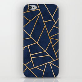 Art Deco Blue iPhone Skin