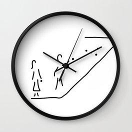 boule petanque boules boccia player Wall Clock