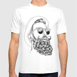 beard & sunglasses T-shirt