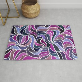 Magenta Currents Rug