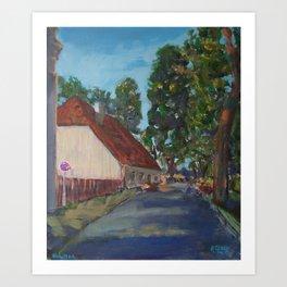 Guardhouse in Kuldiga Art Print