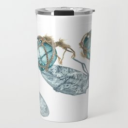 Japanese Glass Fishing Floats Travel Mug