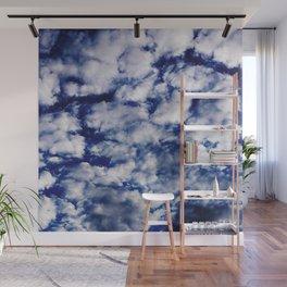 deep blue clouds Wall Mural