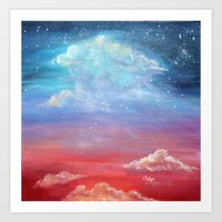 laia Art Prints featuring Sky lights by Laia™