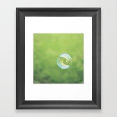 Bubble. Framed Art Print