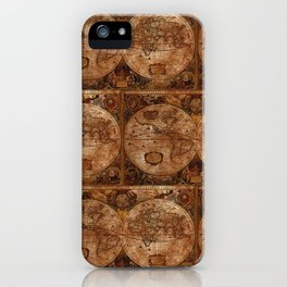 Vintage Olde Worlde Map 1620 iPhone Case