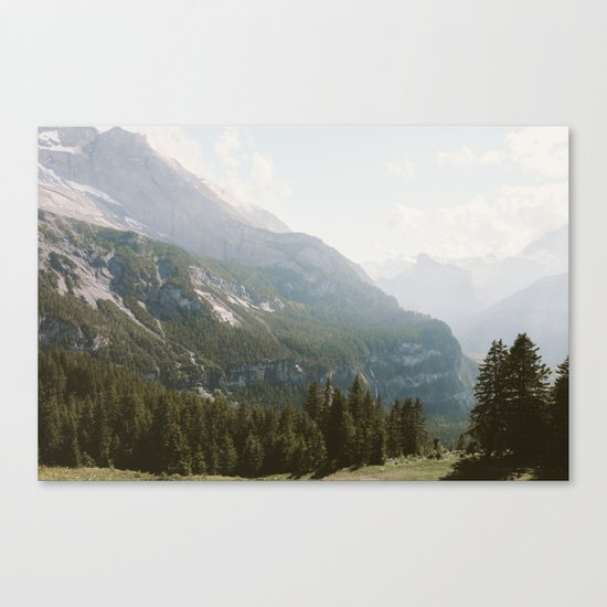 A Switzerland Mountain Valley - Landscape Photography Canvas Print