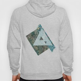 Rice paper, Marbled paper pyramid Hoody