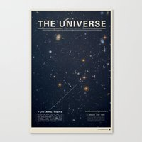 retro Canvas Prints featuring THE UNIVERSE - Space | Time | Stars | Galaxies | Science | Planets | Past | Love | Design by Mike Gottschalk